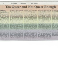 2016.04.15_Crusader_Queer and Not Queer Enough.pdf